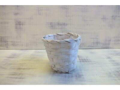 Bambusz kaspó fehér 12cm