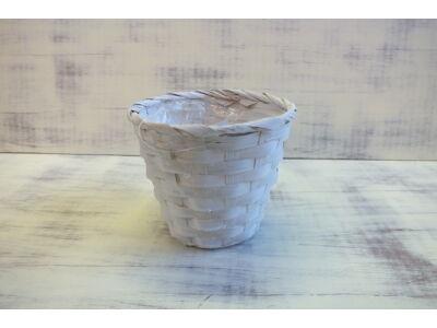 Bambusz kaspó fehér 14cm