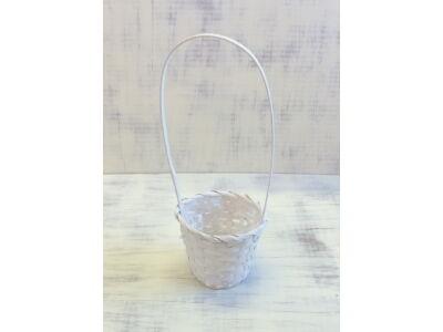 Bambusz füles kaspó fehér 14cm