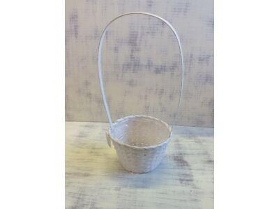 Bambusz füles kaspó fehér 19cm