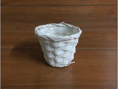 Bambusz kaspó fehér 10cm