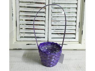 Bambusz füles kaspó lila 12cm