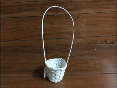 Bambusz füles kaspó fehér 9cm