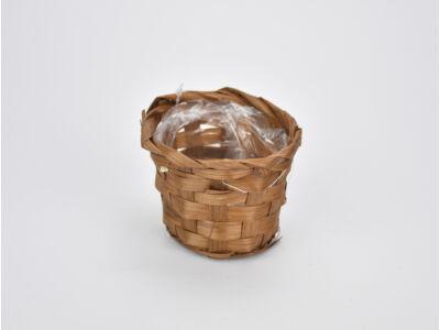 Bambusz kaspó barna 9cm  1250/#