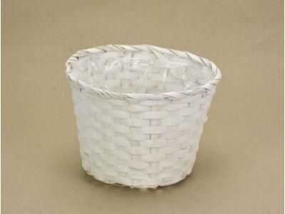 Bambusz kaspó fehér 19cm 200/#
