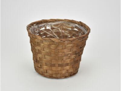 Bambusz kaspó barna 19cm 200/#
