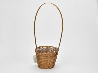 Bambusz füles kaspó barna 14cm  200/#