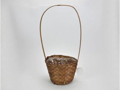 Bambusz füles kaspó barna 19cm  120/#