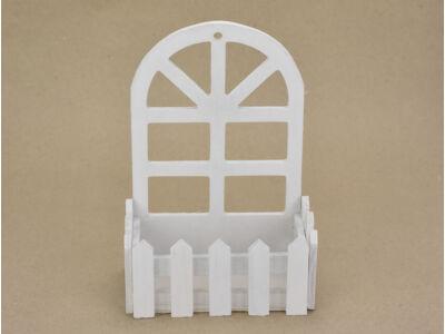Fali dekor tároló fából, ablak fehér