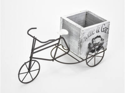 Fém bicikli fa kaspóval 144/#