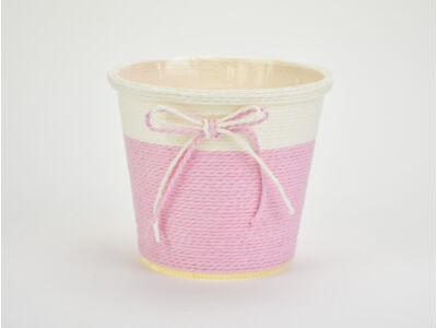 Köteles kaspó masnival nagy rózsaszín