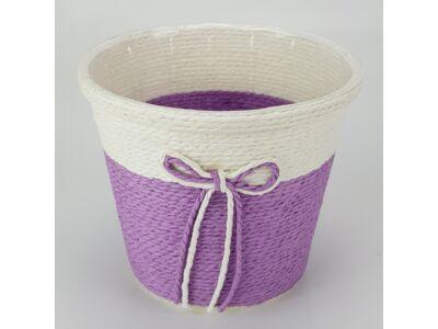 Köteles kaspó masnival nagy lila