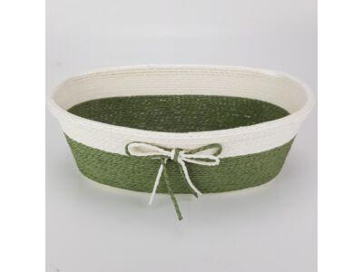 Köteles ovál kaspó masnival nagy zöld