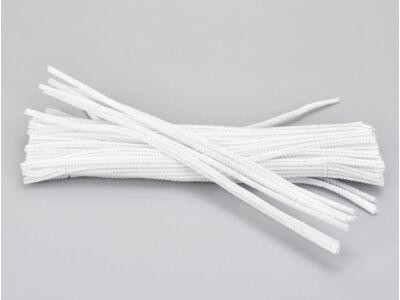 Zsenília drót - fehér 100db/csomag