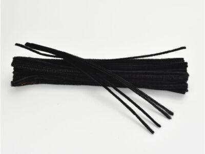 Zsenília drót - fekete 100db/csomag