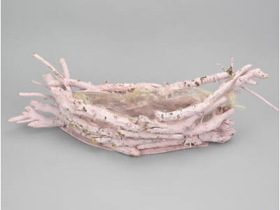 Havas rózsaszín gyökér csónakkosár 12/#