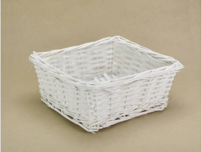 Fonott kocka tál fehér