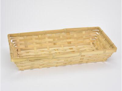 Bambusz tál 37*19cm 60/#