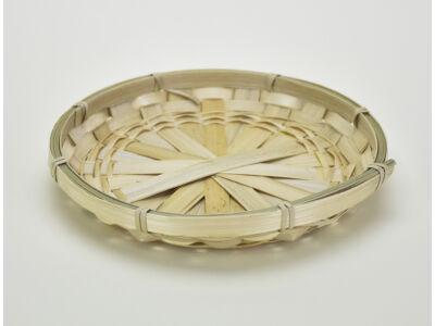 Lapos bambusz tál 20cm