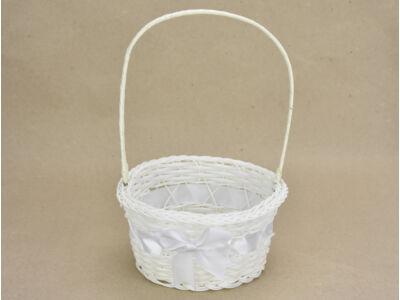 Sziromszóró kosár műanyag, fehér, kerek 240/#