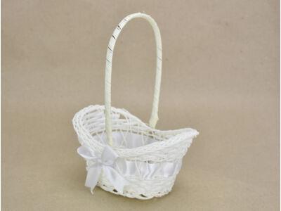 Sziromszóró kosár műanyag, fehér, mini 320/#