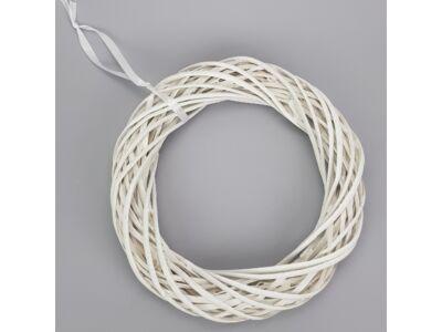 Vessző koszorú fehér 30cm