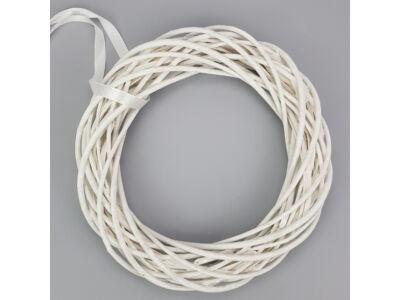 Vessző koszorú fehér 35cm