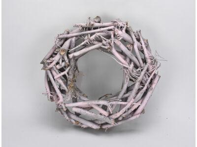 Rőzsekoszorú rózsaszín 30cm