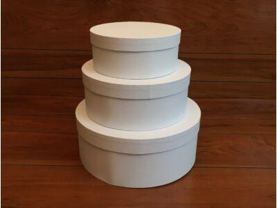 Papírdoboz fehér 3db/szett