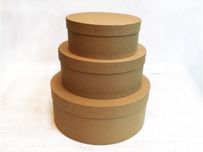 Papírdoboz natúr 3db/szett