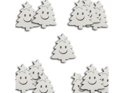 Mosolygós fenyőfa fehér 5cm 20db/cs