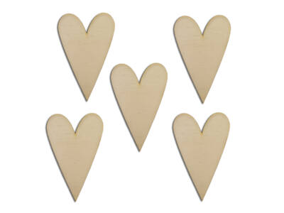 Natúr fa - Hosszúkás szív 5,5cm*8,5cm 5db/cs