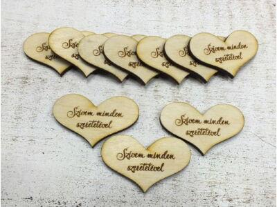 """Fa""""Szívem minden szeretetével"""" 10db/csomag"""