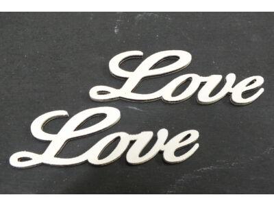 Fa Love felirat fehér 8cm 2db/csom
