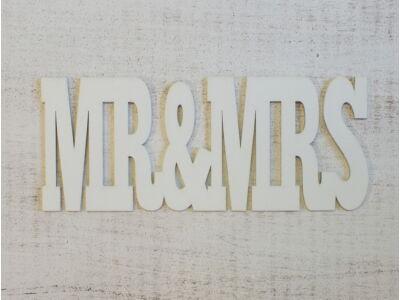 Mr & Mrs 25cm felirat fehér