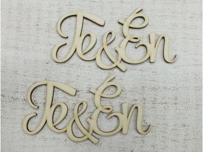 """""""Te & Én"""" felirat 12cm 2db/csomag"""