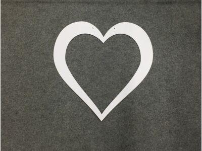 Szív keret fehér 55cm
