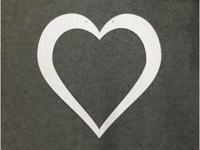 Szív keret fehér 75cm
