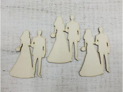 Esküvői pár csokros 3db/csomag