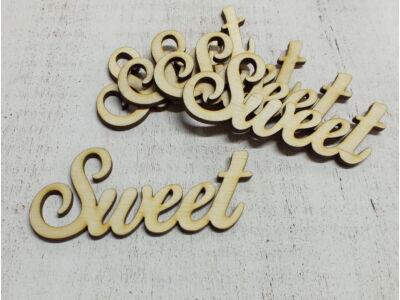 "Natúr fa - ""Sweet"" felirat 10cm 5db/csomag"