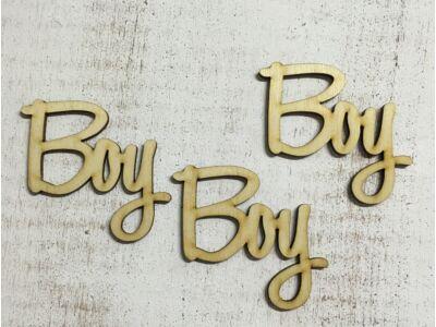 """Natúr fa felirat """"Boy"""" 3db/csomag"""