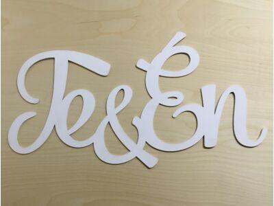"""Fa """"Te&Én"""" felirat 74cm fehér"""