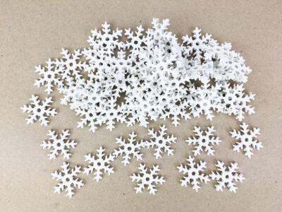 Fehér hókristály 2,5cm 50db/csomag