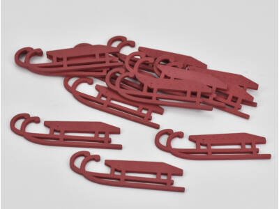 Szánkó lapos 8cm piros 12db/csomag