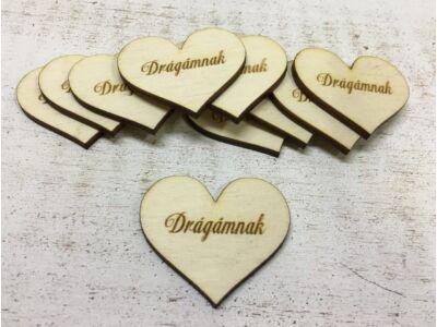 "Natúr fa szív ""Drágámnak"" 10db/csomag"