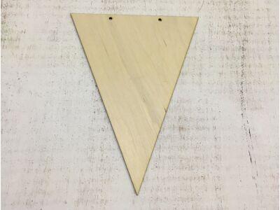 Natúr fa - Háromszög zászló 20cm