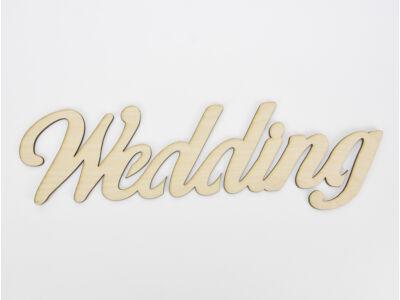 "Natúr fa - ""Wedding"" felirat 35cm"