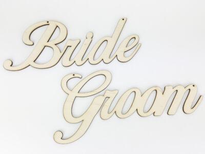 """Natúr fa - """"Bride Groom"""" felirat"""