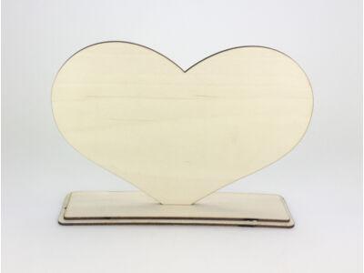 Natúr fa - Talpas szív 18x24cm