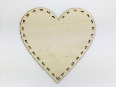 Natúr fa - Szalaggal körbefűzhető szív 20cm